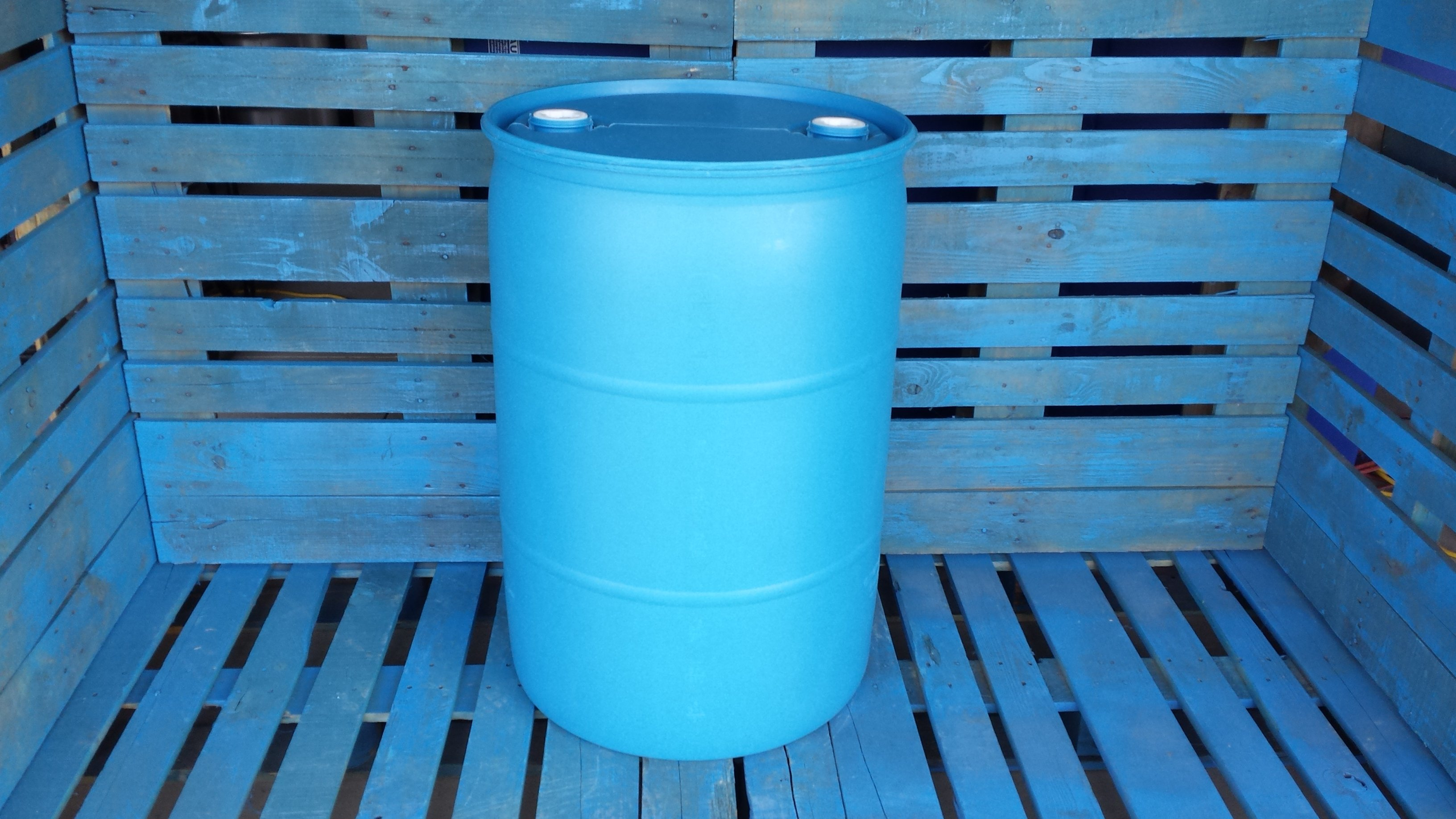 New 55 gallon plastic barrel