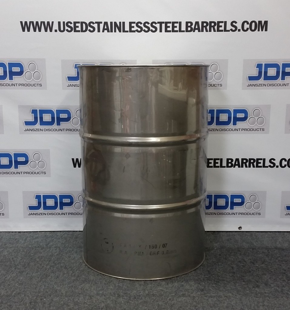 dirty stainless steel barrel