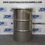 used open stainless steel drum