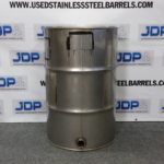 stainless steel drum with side fitting