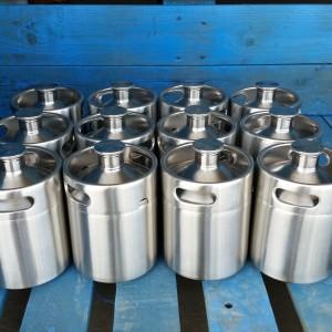 2 Liter New Stainless Steel Micro Keg Style Growler