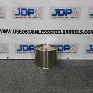 3 gallon stainless steel closed top barrel