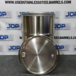 New Open Top Stainless Steel Drum