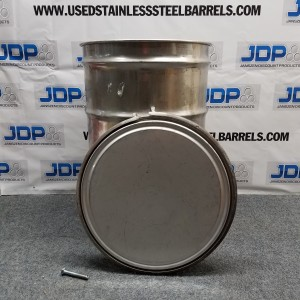 used open top stainless steel drum