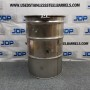 used stainless steel open top barrel