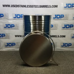 open top stainless drum