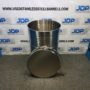 used open top stainless drum