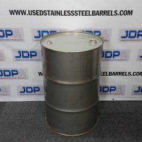 55 gal 304 USED stainless Closed Head Barrel (1.5mm) #1