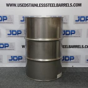 55 gal 304 USED stainless Closed Head Barrel (1.2/.9/1.2mm) #2