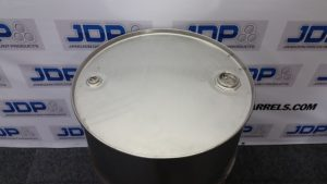 closed top stainless steel drum