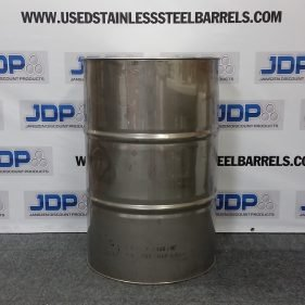 55 gal 304 USED stainless Closed Head Barrel (.8mm)