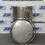 used open top stainless steel barrel