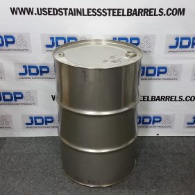 55 gal 304 USED stainless Closed Head Barrel (1.0mm)