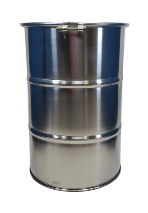 30 gallon open top stainless steel barrel