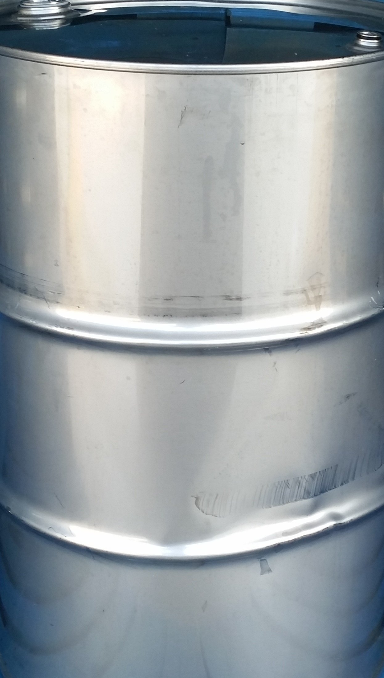 55 Gallon Used Stainless Steel Barrel Closed Head