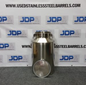 15 gallon stainless steel milk pail