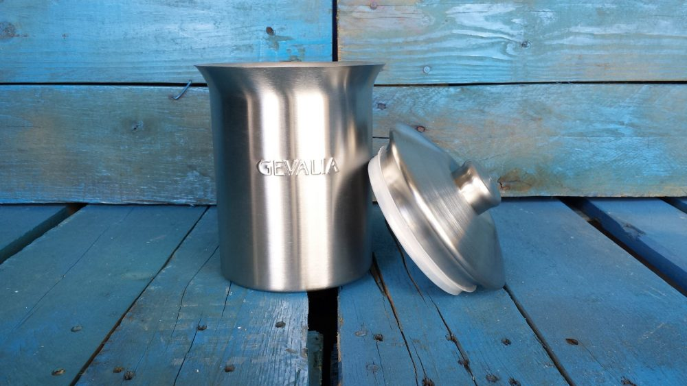 stainless steel coffee canister gevalia