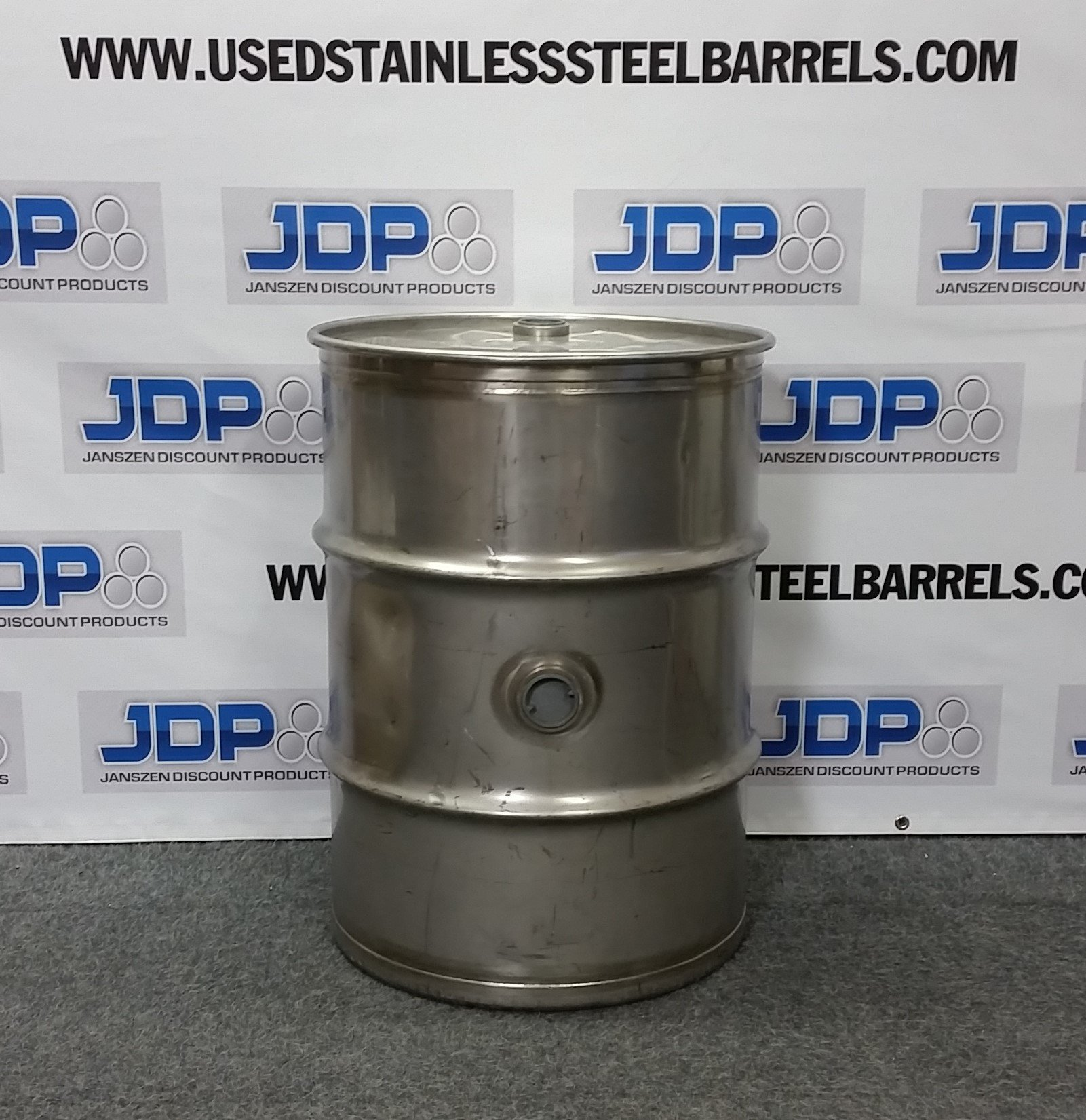 40 Gal Used Stainless Steel Barrel Closed Head 15 Mm