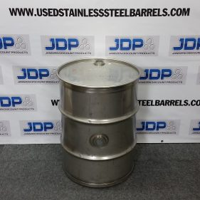40 gal 304 USED stainless Closed Head Barrel with side bung (1.5mm)