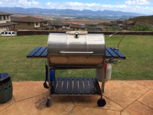 55 gallon stainless steel drum grill