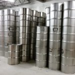 55 Gallon Used Stainless Steel Barrels