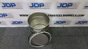10 gallon open top stainless steel drum