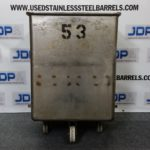Stainless Steel Rolling Tote