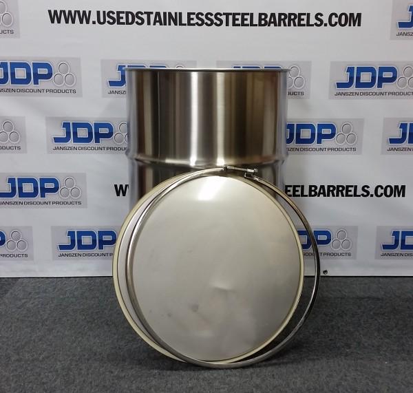 new stainless steel open top barrel