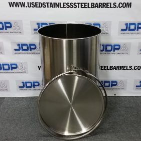 55 gal 304 NEW stainless Open Head Barrel Crevice Free (1.2mm)