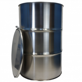 55 Gallon 304 NEW Stainless Steel Open Head Barrel (1.0mm)