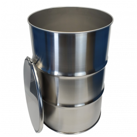55 Gallon 316 NEW Stainless Steel Open Head Barrel (1.0mm)