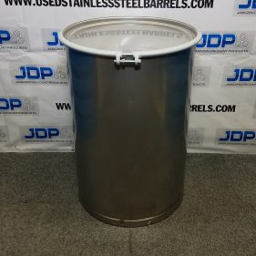 85 gal 304 NEW stainless Open Head Barrel Crevice Free (1.5mm)