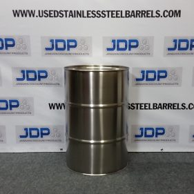 30 gal 304 NEW stainless CLOSED HEAD w/ ribs on sides (1mm)