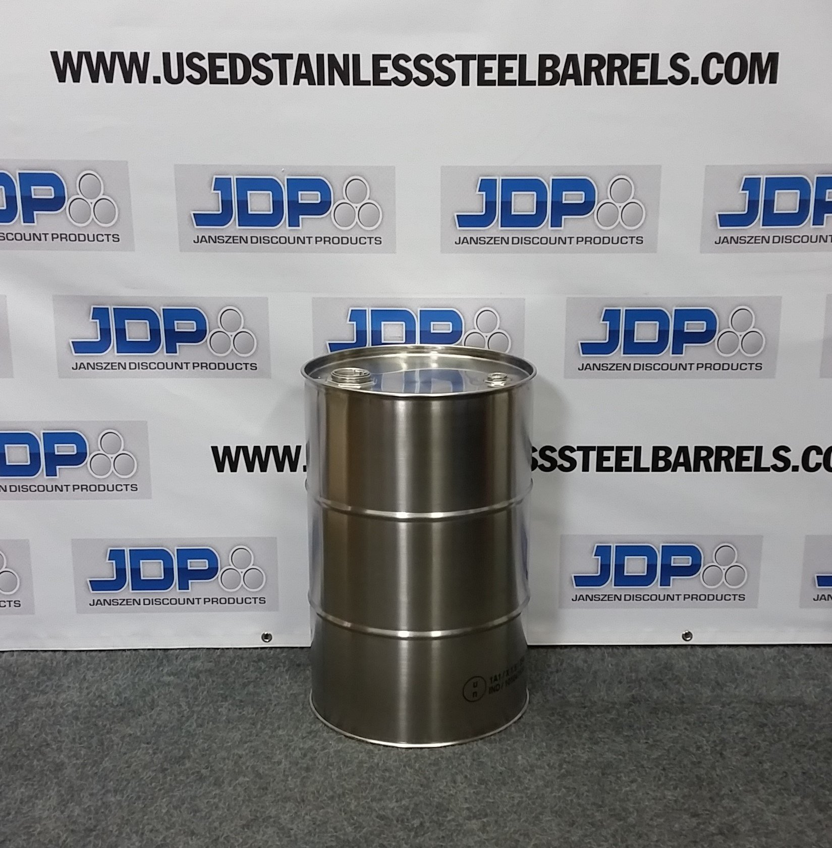 15 gallon closed head stainless steel drum