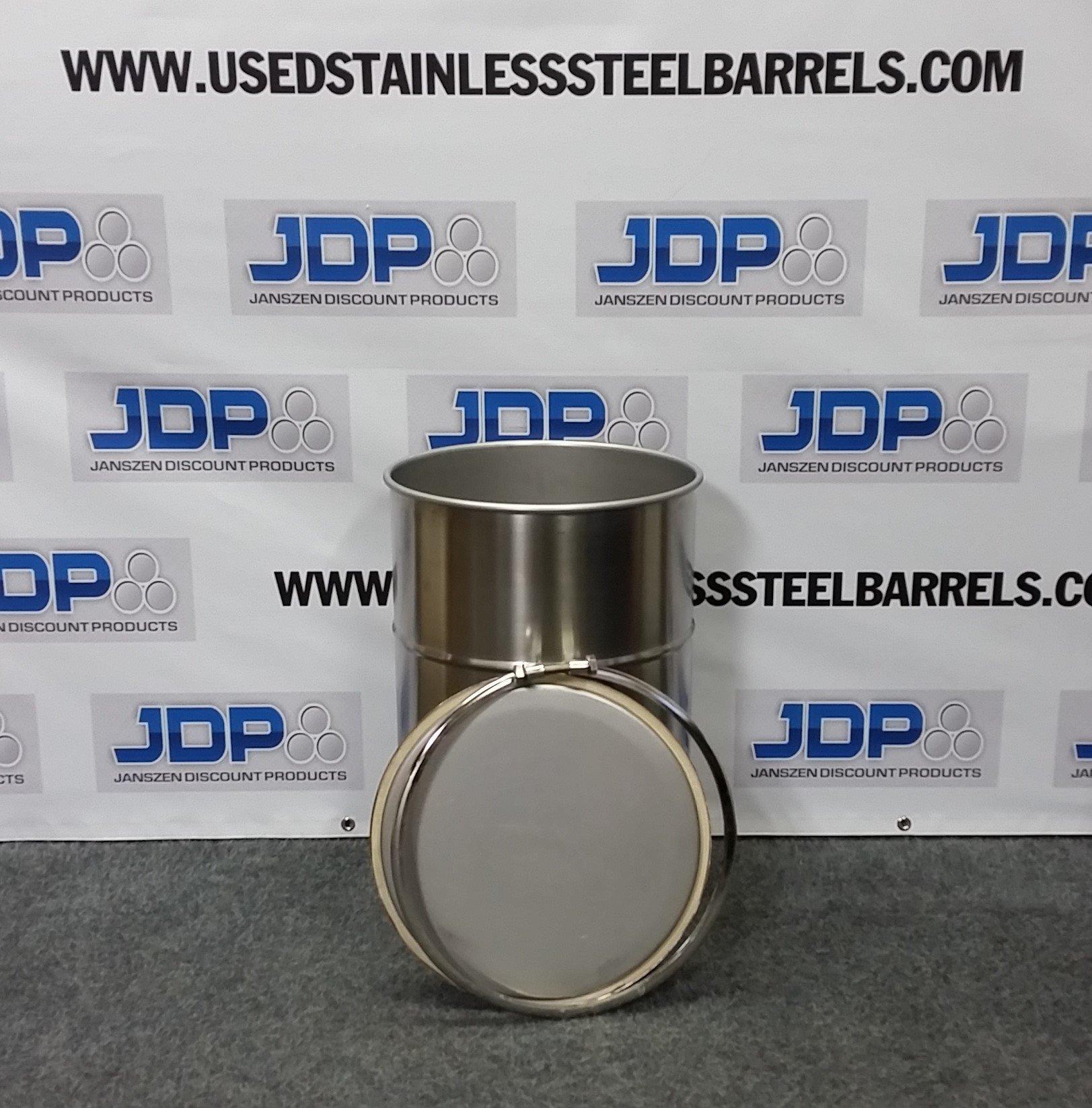 15 gallon stainless steel drum