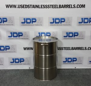 new 15 gallon stainless steel drums