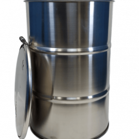 30 Gallon 304 NEW Stainless Steel OPEN HEAD Barrel 2″ and 3/4″ bungs (1mm)