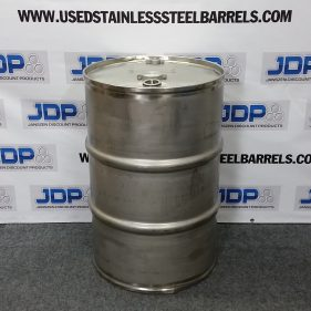 55 gal 304 USED LIKE NEW stainless Closed Head Barrel (1.5mm) Reinforced Chimes