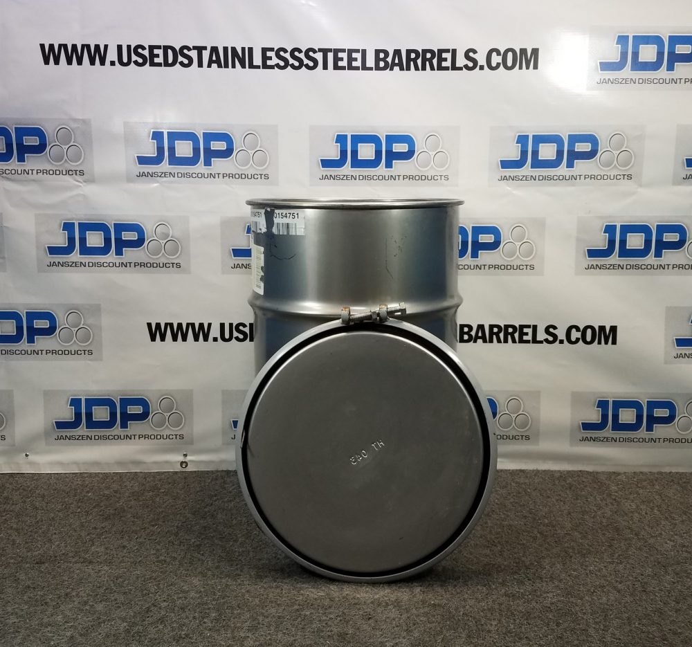Used 30 gallon stainless steel drum