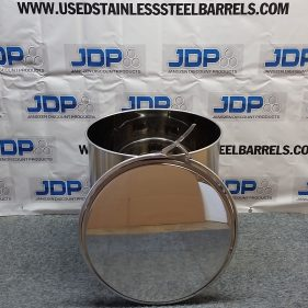30 gal 304 NEW stainless Open Head Barrel Crevice Free (1.0mm)