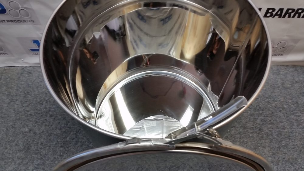 open top 30 gallon stainless steel drum