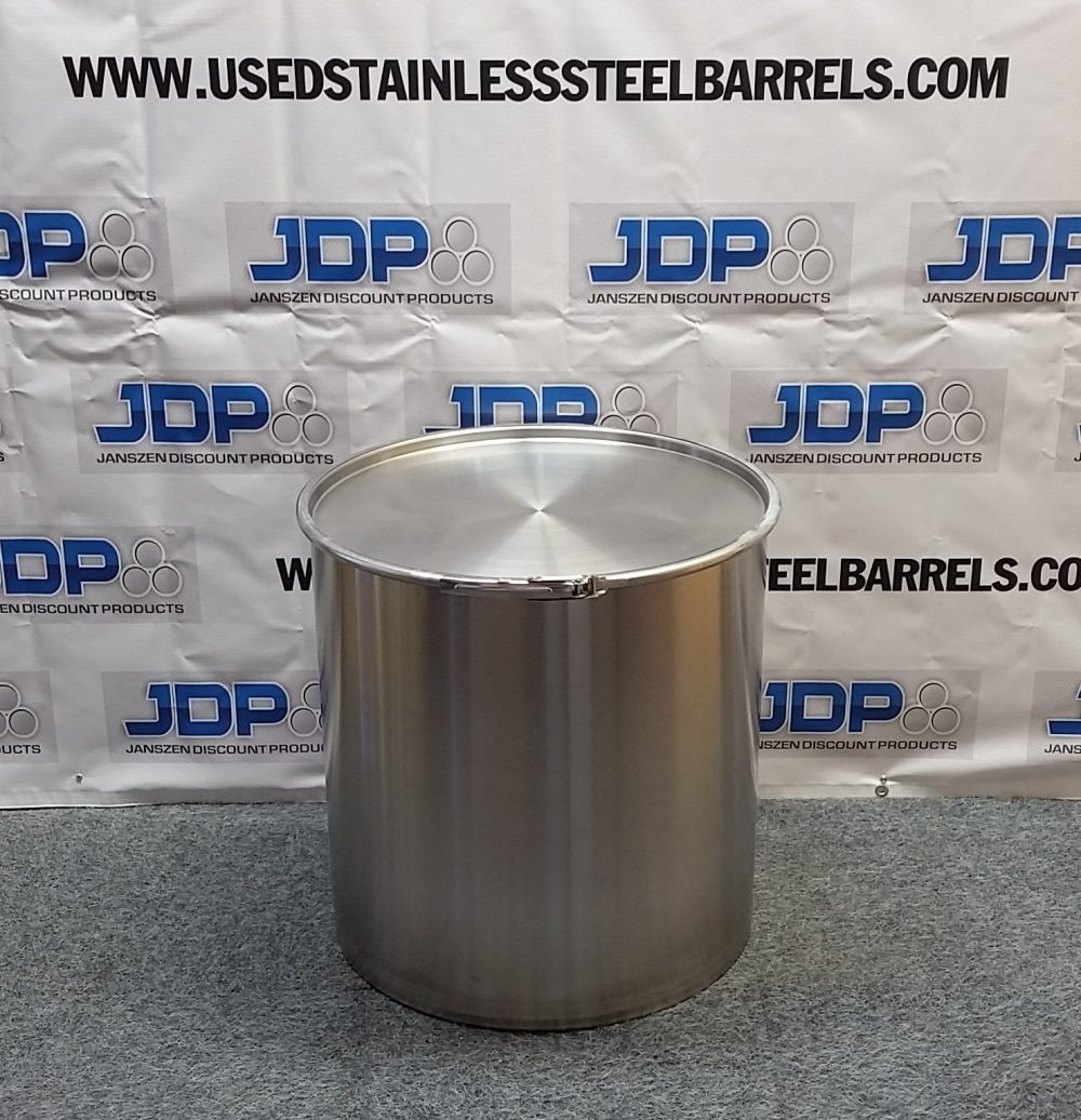 30 gallon sanitary stainless steel drum