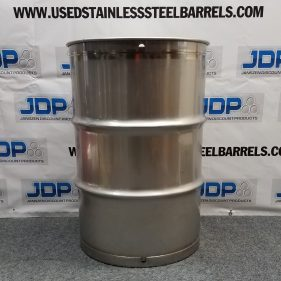 55 gal 304 NEW stainless Closed Head Barrel Crevice Free (1.5mm)