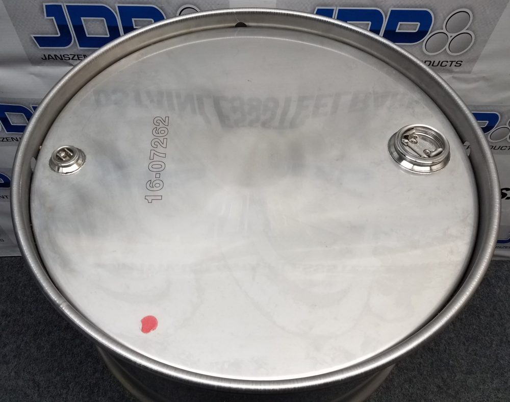 55 gallon Crevice free stainless steel drum