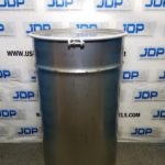 Crevice free stainless steel drum