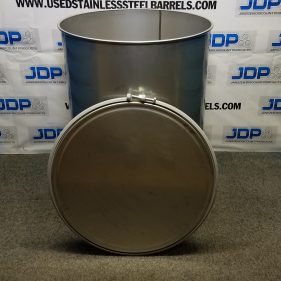 120 gal 304 NEW stainless Open Head Barrel Crevice Free (1.5mm)