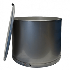 65 Gallon 304 NEW Stainless Steel Open Head Barrel Crevice Free (1.5mm)
