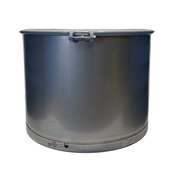 New 65 gallon stainless steel barrel