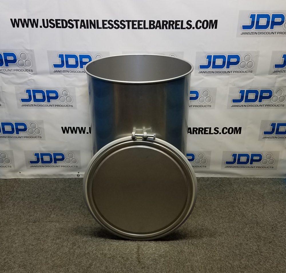 55 gallon sanitary stainless steel drum