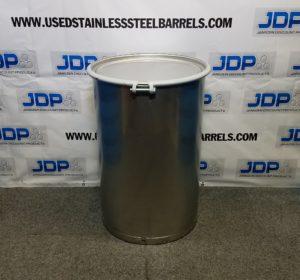open top stainless steel drum